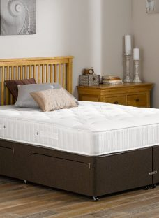 Lambert Pocket Sprung Divan Bed - Orthopaedic - Mocha 5'0 King Dark Brown