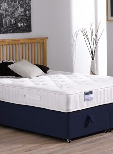 Lambert Pocket Sprung Ottoman Bed - Orthopaedic - Blue 4'6 Double