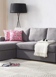 Madden Sofa Bed 3 Seater Grey Fabric
