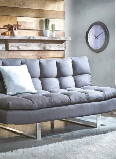 Ohio Sofa Bed 3 Seater Charcoal Fabric