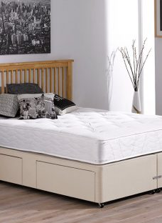 Orchard Pocket Sprung Divan Bed - Firm - Beige 3'0 Single Off White