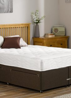 Orchard Pocket Sprung Divan Bed - Firm - Mocha 4'0 Small Double Dark Brown