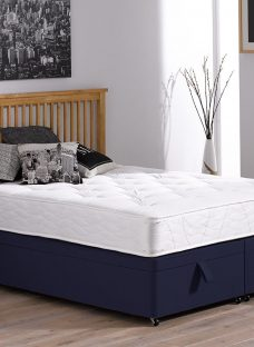 Orchard Pocket Sprung Ottoman Bed - Firm - Blue 3'0 Single