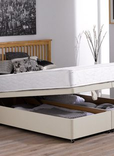 Orchard Pocket Sprung Ottoman Bed - Firm - Beige 4'6 Double