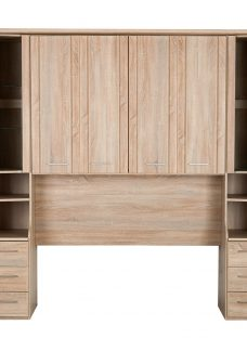 Florida Over-Bed Unit - Double Chest Natural