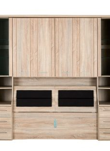 Florida Over-Bed Unit with Storage Box - King Chest Natural