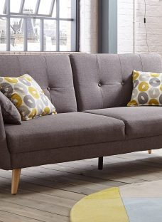 Palmer Sofa Bed 3 Seater Charcoal Fabric