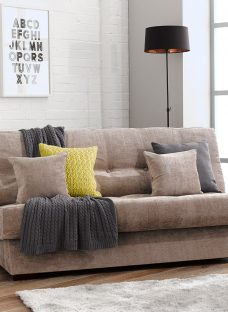 Perth Storage Sofa Bed 3 Seater Mink Fabric