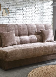 Perth Storage Sofa Bed 3 Seater Nutmeg Fabric