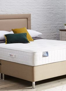 TheraPur ActiGel Plus 1600 Divan Bed with Legs - Firm - Oatmeal 4'6 Double Other