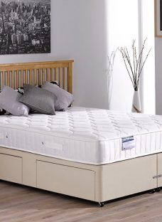 Rapley Pocket Sprung Divan Bed - Medium - Beige 4'6 Double
