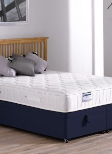 Rapley Pocket Sprung Ottoman Bed - Medium - Blue 5'0 King