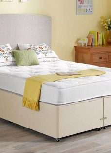 Regatta Pocket Spring Mattress and Classic Divan Bed - Beige - Firm 4'6 Double