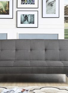 Rey Sofa Bed 3 Seater Charcoal Fabric
