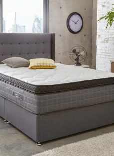 Sealy Pocket Prestige 2800 Divan Bed - Medium Soft - Ash 6'0 Super King Charcoal