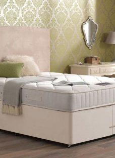 Sigma Pocket Spring Mattress and Classic Divan Bed - Beige - Medium 5'0 King
