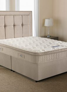 Silentnight Langley Mirapocket Divan Bed - Medium Firm 5'0 King Off White