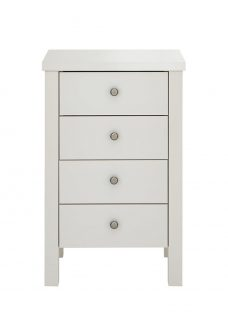 Sloane 4 Drawer Chest - Champagne Chest Off White
