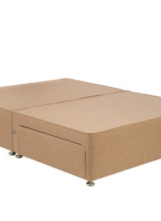 TheraPur Divan Base - Oatmeal 4'6 Double Light Brown