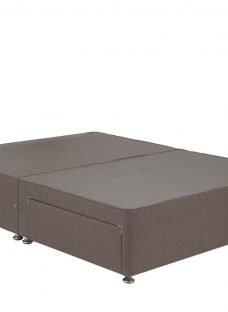 TheraPur Divan Base - Mink 4'6 Double Grey