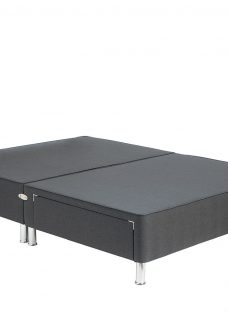 TheraPur Divan Base With Legs - Carbon 4'0 Small Double Black