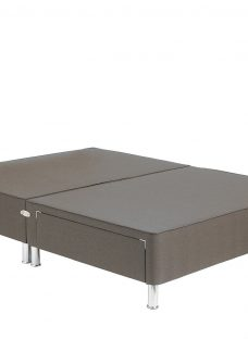 TheraPur Divan Base With Legs - Mink 4'6 Double Grey