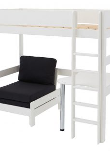 Tinsley Highsleeper with Desk - Black and White 3'0 Single