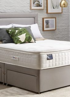 TheraPur ActiGel Tranquil 2000 Divan Bed - Medium - Ash 4'6 Double Other