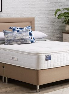 TheraPur ActiGel Tranquil 2000 Divan Bed with Legs - Medium - Oatmeal 4'6 Double Other