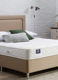 TheraPur ActiGel Tranquil 20 Divan Bed with Legs - Medium - Oatmeal 4'6 Double Other