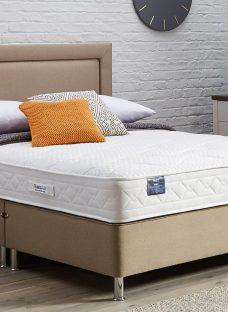 TheraPur ActiGel Tranquil 800 Divan Bed with Legs - Medium - Oatmeal 4'6 Double Other