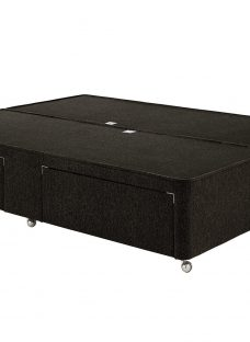 Luxury Divan Base - Charcoal 4'6 Double