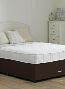Wakefield Pocket Sprung Divan Bed - Medium - Mocha 4'6 Double Dark Brown