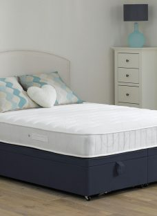Wakefield Pocket Sprung Ottoman Bed - Medium - Blue 4'6 Double