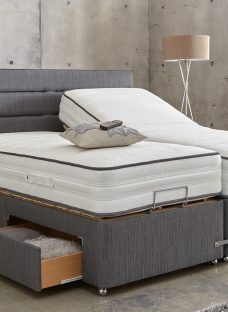 Westwood Mattress With Premium Slate Adjustable Divan Bed - Medium Firm 4'0 Small Double Slate Grey