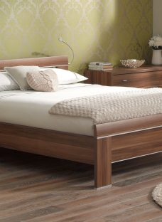 Berkeley Walnut Wooden Bed Frame 4'6 Double Dark Wood