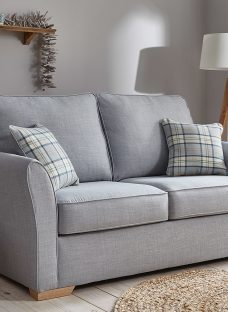 Willis Sofa Bed 3 Seater Silver Fabric