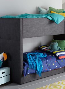 Willow Grey Fabric Bunk Bed 3'0 Single Other