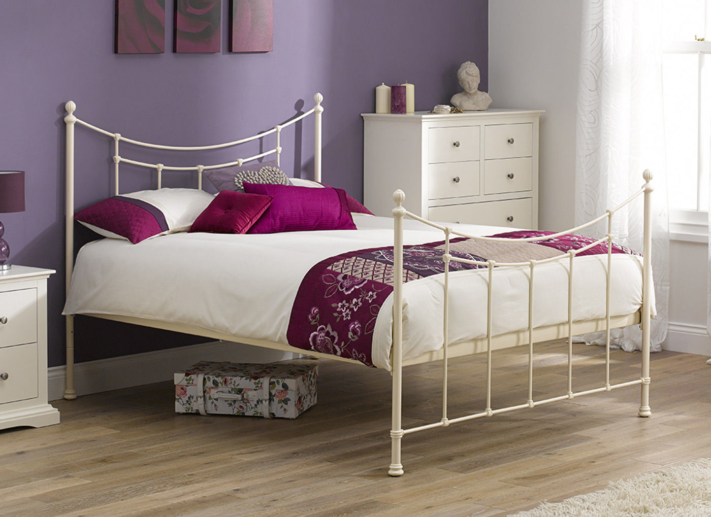 Winchester Ivory Metal Bed Frame 3 0 Single Off White Bed Sava