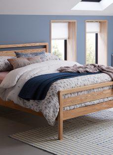 Woodstock Wooden Bed Frame 4'6 Double Oak Light Wood