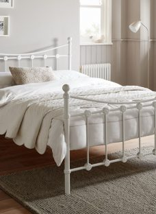 Ava White Metal Bed Frame 4'6 Double