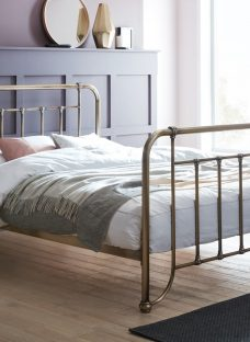 Dinton Metal Double Bed Frame 4'6 Double Black