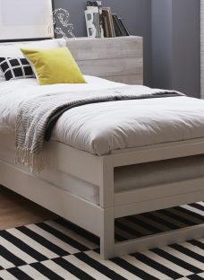 Nova Stack Kids Single Wooden Bed Frame 3'0 Single White Light Wood