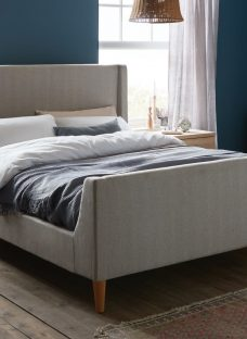 Morris Grey Tweed King Bed Frame 5'0 King Fabric