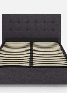 Hyde & Sleep Ottoman 6'0 Super King Charcoal Fabric
