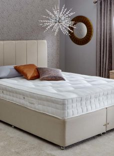 Insignia Burnham Pocket Spring Divan Bed - Firm - Beige 6'0 Super King