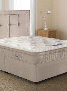 Silentnight Glenmore Sprung-Edge Divan Bed - Medium 3'0 Single Off White