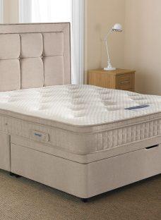 Silentnight Glenmore Mirapocket Ottoman Bed - Medium 4'6 Double Off White