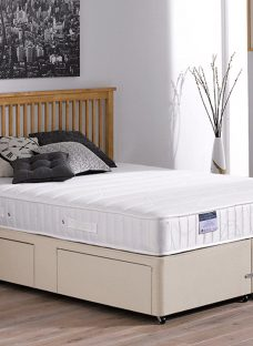 Kendall Pocket Sprung Divan Bed - Firm - Beige 5'0 King Off White