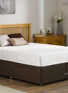 Kendall Pocket Sprung Divan Bed - Firm - Mocha 3'0 Single Dark Brown